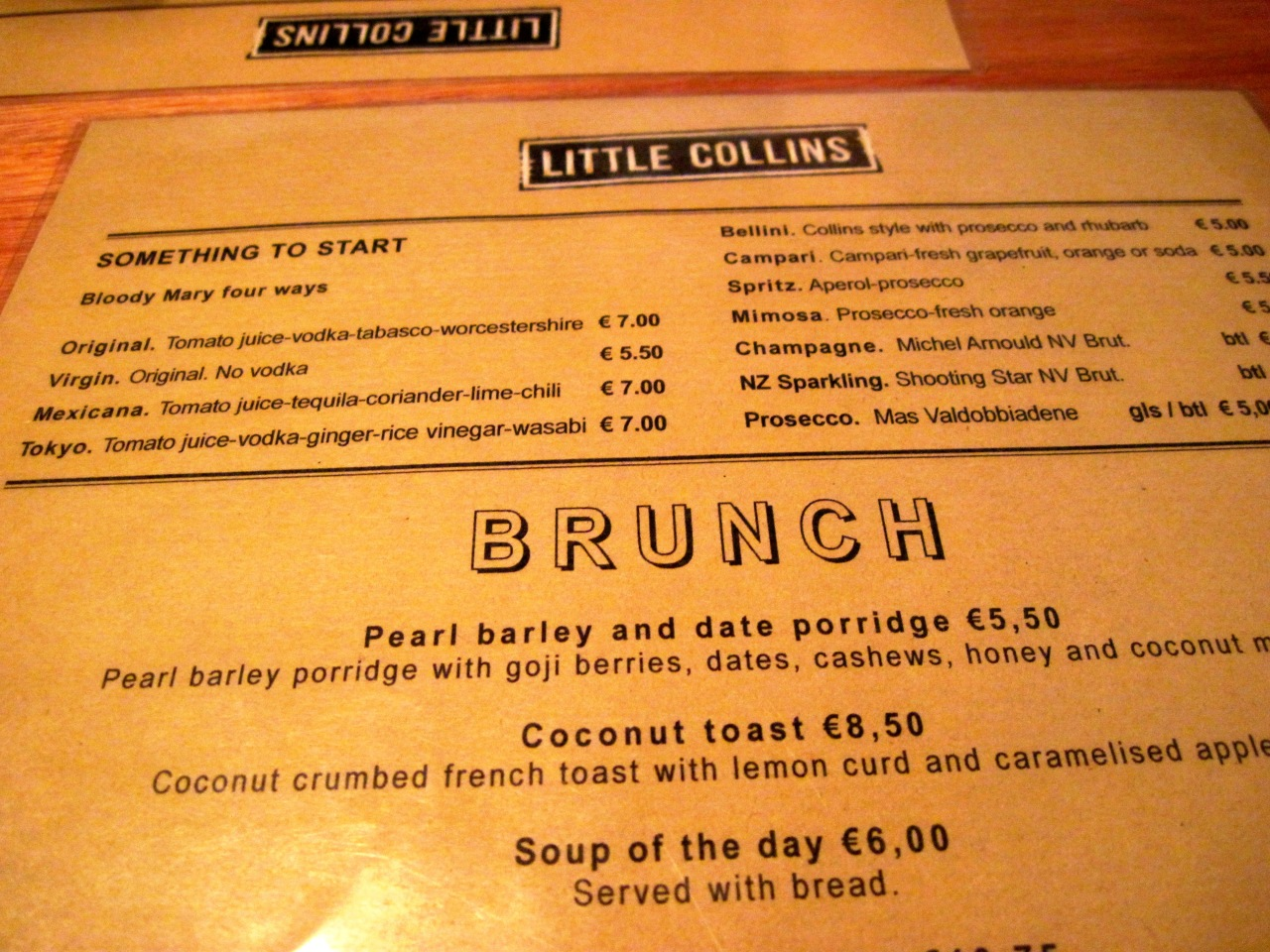 Amsterdam: Aussie brunch at Little Collins